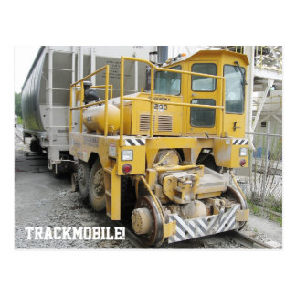 Trackmobile Railcar Mover Locomotive Postcard
