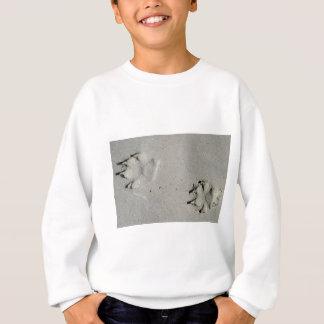 Tracks of a big dog on the sand sweatshirt
