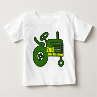 Tractor 2nd Birthday Gifts Baby T-Shirt