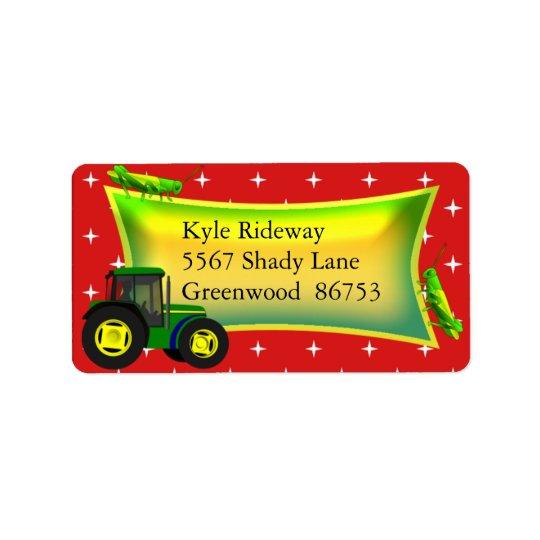Tractor Address Label