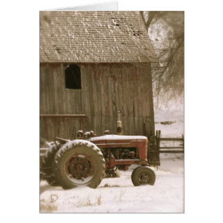 Tractor & Barn Note Card
