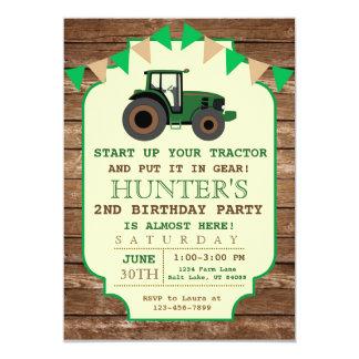 Tractor Birthday Invitation, Farm Birthday Card