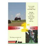 Tractor Birthday Invitation: International Tractor