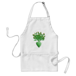 Tractor Bouquet with Green Heart Vase Standard Apron