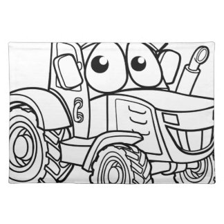 Tractor Cartoon Character Placemat