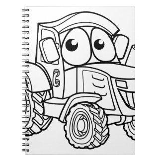 Tractor Cartoon Character Spiral Notebook