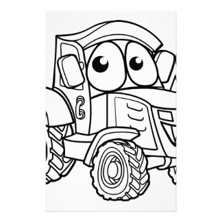 Tractor Cartoon Character Stationery