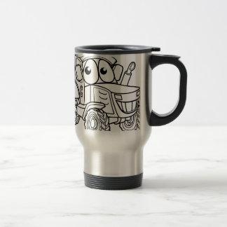 Tractor Cartoon Character Travel Mug