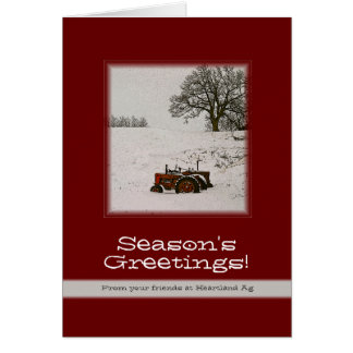 Tractor Christmas Card: Add Your Business Name Card