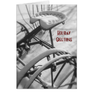 Tractor Christmas Card: Old Tractor Seat Card