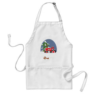 Tractor for Christmas Standard Apron