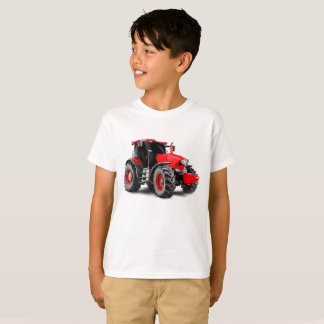 Tractor image for Kids'-T-Shirt-White T-Shirt