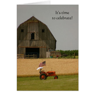 Tractor Invitation: Time to celebrate! Card
