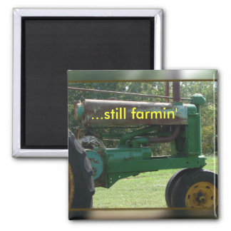 tractor magnet-customize square magnet