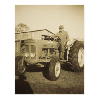 TRACTOR MAN POSTER  PRINT