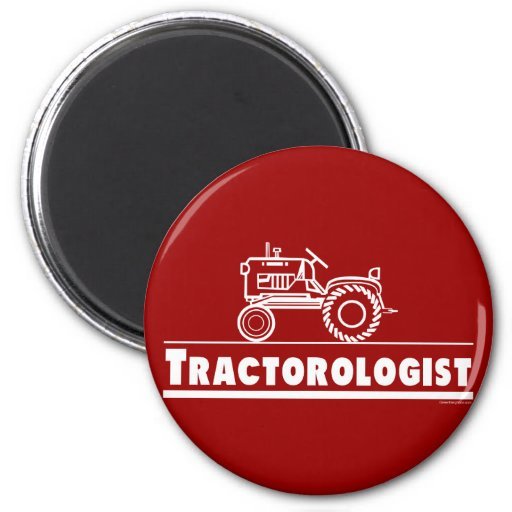 Tractor Ologist RED Fridge Magnets