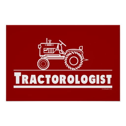 Tractor Ologist RED Posters