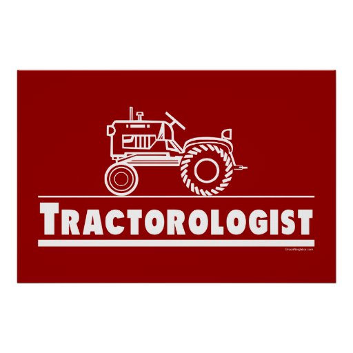 Tractor Ologist RED Poster