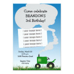 Tractor Party Invitation: Green Tractor, Add Your 13 Cm X 18 Cm Invitation Card