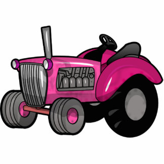 Tractor - Pink Cut Outs