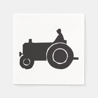 Tractor Silhouette Paper Napkins Disposable Serviette