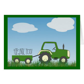 Tractor Thank You Card -- cute inside too!