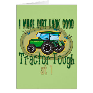 Tractor Tough 1st Birthday Card