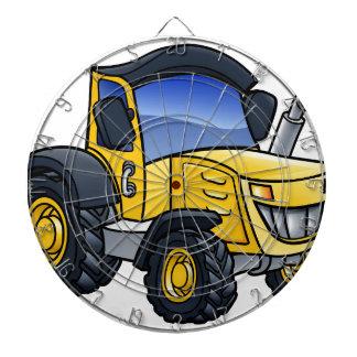 Tractor Vehicle Cartoon Dartboard