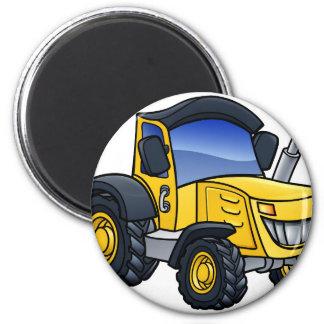 Tractor Vehicle Cartoon Magnet