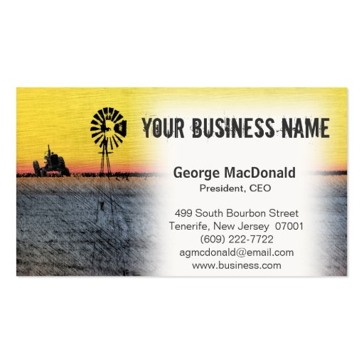 Tractor & Windmill Business Cards