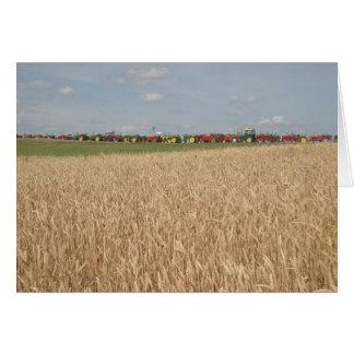 Tractors in Wheat Field Card