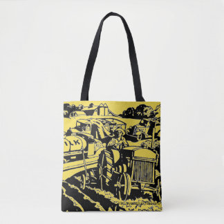 """Tractorville"" Tote Bag"