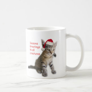 Tracy's Kitty, Seasons Greetings Coffee Mug