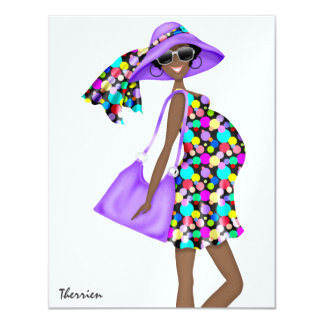 Tracy's Modern Moms -  SRF 11 Cm X 14 Cm Invitation Card