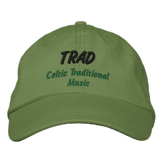 TRAD Celtic Traditional Music Cap Embroidered Baseball Cap