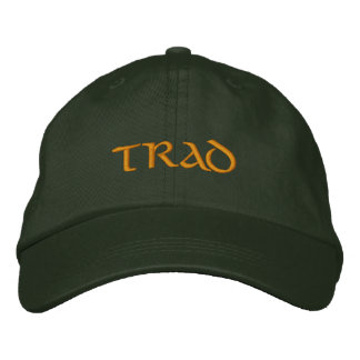 Trad (Irish Traditional Music) flexfit ballcap Embroidered Baseball Cap