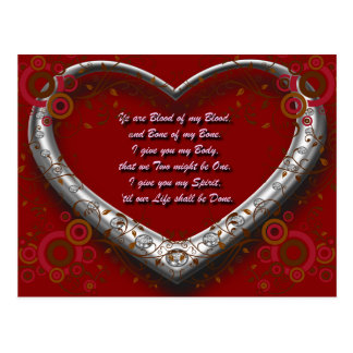 Trad. Scot Love Vow: Blood of my Blood - Autumnal Postcard