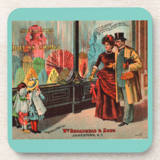 trade card William Broadhead & Sons dress goods Drink Coaster
