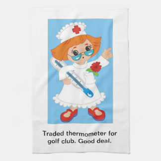 Traded Thermometer for Golf Club - Good Deal Tea Towel