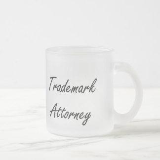 Trademark Attorney Artistic Job Design Frosted Glass Mug