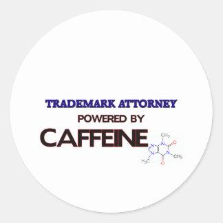 Trademark Attorney Powered by caffeine Stickers