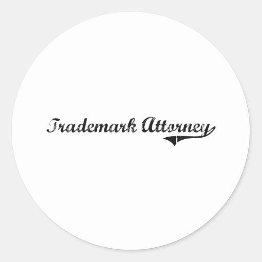 Trademark Attorney Professional Job Stickers