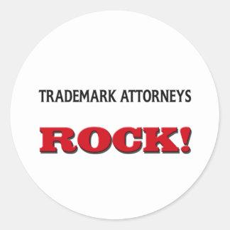 Trademark Attorneys Rock Round Sticker