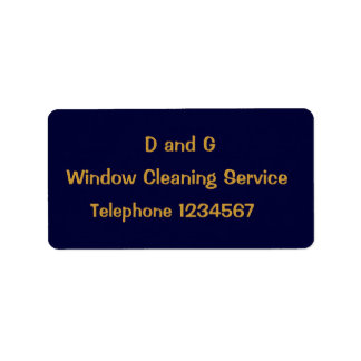 TRADES, WINDOW CLEANING ADDRESS LABEL