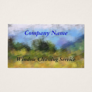 TRADES, WINDOW CLEANING BUSINESS CARD