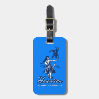 Tradewinds Hawaiian Island Hula Girl Bright Luggage Tag