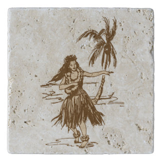 Tradewinds Hawaiian Island Hula Girl - Cocoa Brown Trivet