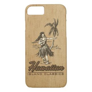 Tradewinds Hawaiian Island Hula Girl Faux Wood iPhone 8/7 Case
