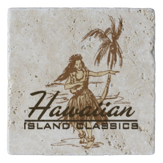 Tradewinds Hawaiian Island Hula Girl Trivet