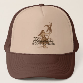 Tradewinds in brown on a trucker hat